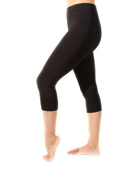 Capri Dance Tights / Cotton (Black)-0