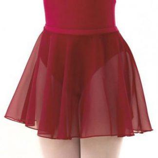 ISTD Style chiffon circular skirt, sky and plum